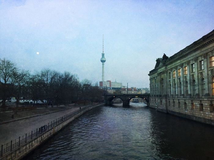 Architecture City Berlin Berliner Ansichten Berlin Photography Berlin Mitte Canal Tower Sky Water Television Tower Bodemuseum Old Buildings Historical Place Museumsinsel Historical Building Bode Museum Berlin, Germany  Architecture