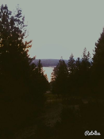 The view from upstairs office. Gifford Washington Washington State Sunset Lake View Lake Roosevelt Color Photography Light And Shadow