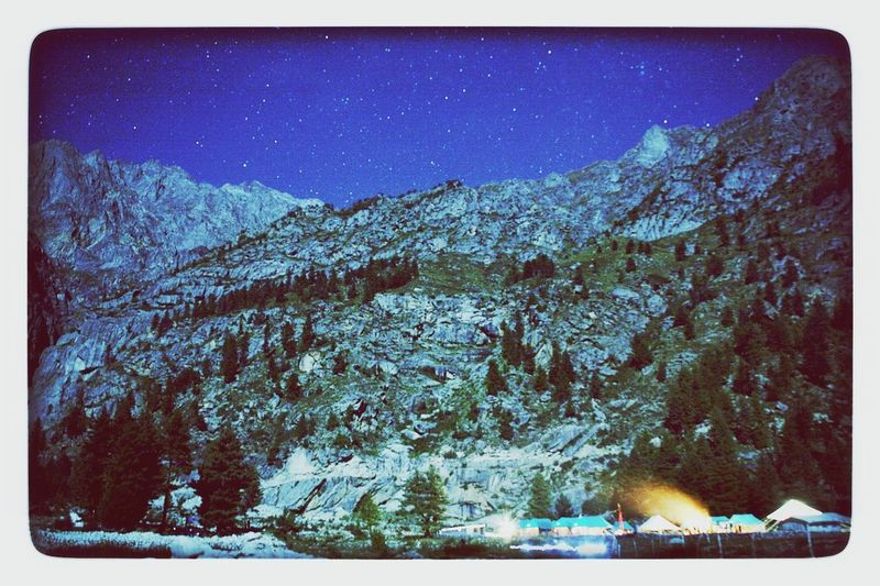 base camp in himachal Himalayas Himachal, India Night Sky Starry Night