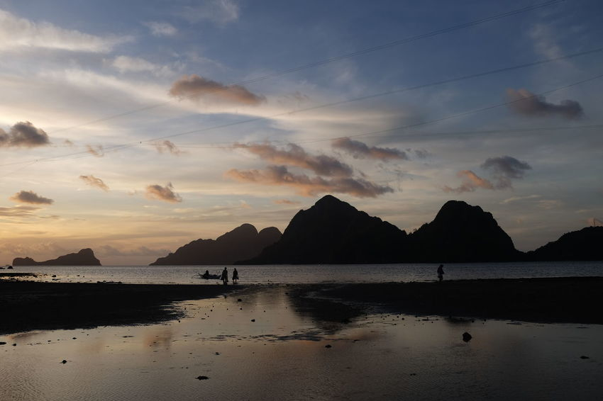 Beautiful moments in El Nido, Philippines. El Nido El Nido Islands Eyeem Philippines Nature Palawan, Philippines Philippines Beach Beauty In Nature Cloud - Sky Mountain Nature No People Outdoors Palawan Reflection Sea Sea And Sky Silhouette Sky Sunset Tranquil Scene Tranquility Water Lost In The Landscape Done That. Connected By Travel
