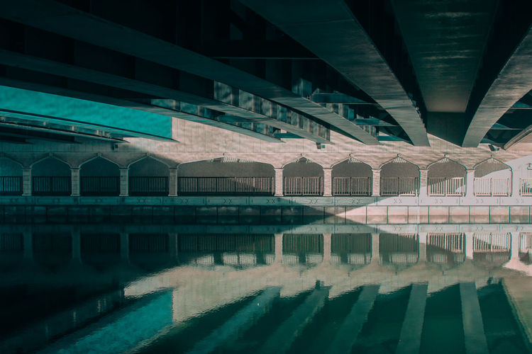 Arch Architectural Column Architecture Below Blue Bridge - Man Made Structure Built Structure Connection Day Indoors  Mirror No People Reflection Reflection_collection Reflections Shootermag Shootermagazine Sky Sunlight Sunny The Great Outdoors - 2017 EyeEm Awards The Street Photographer - 2017 EyeEm Awards Under Underneath Water The Great Outdoors - 2018 EyeEm Awards