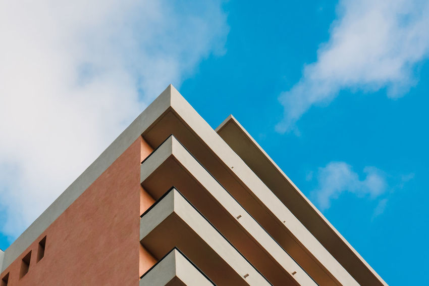 Triangle Shape Architecture Sky Modern Built Structure Cloud - Sky Building Exterior No People Outdoors Day Close-up