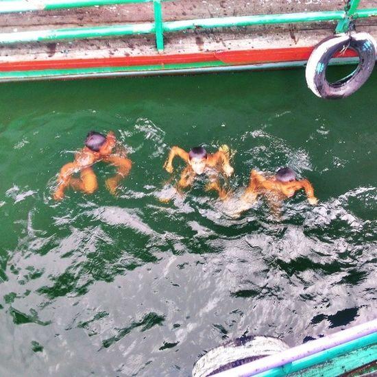 These boys are begging for coint bucks.. View TOBALAKE Toba Sumatra  Indonesia Travel Traveler