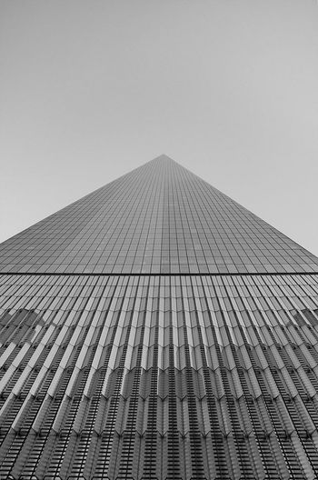 Architecture can be so much more than just a building.. ..a beaufitul model for instance. Architecture Built Structure Low Angle View Clear Sky Skyscraper NYC NYC Photography New York One World Trade Center Art Artitecture Blackandwhite Black And White Black & White Schwarzweiß EyEmNewHere