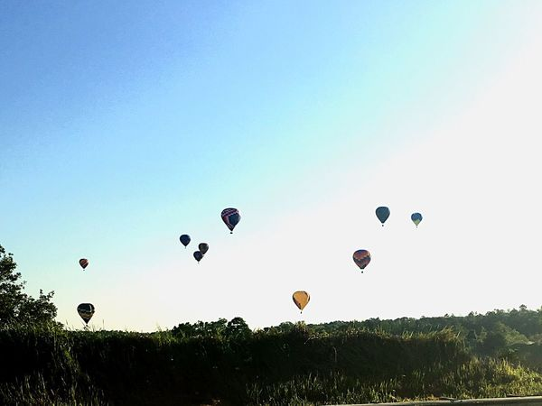 Hot Air Balloons Up In The Clouds Balloon Fest Hot Air Fun Perfect Scene