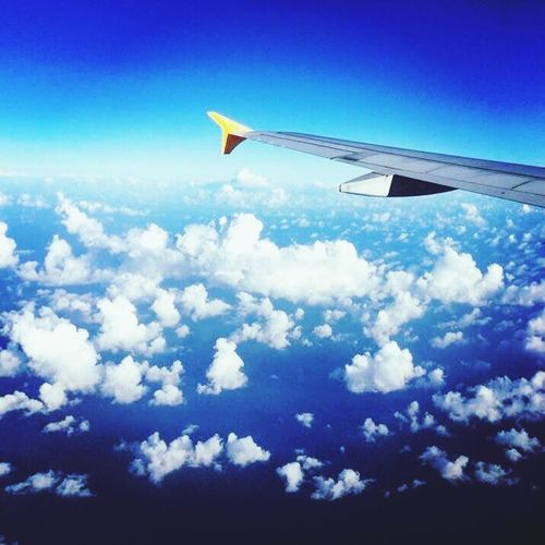 Always the window seat, never the aisle. Krabi Thailand Thailand 2016 Krabi-serye Relaxing Taking Photos Enjoying Life Hello World Plane Ride From An Airplane Window Clouds And Sky