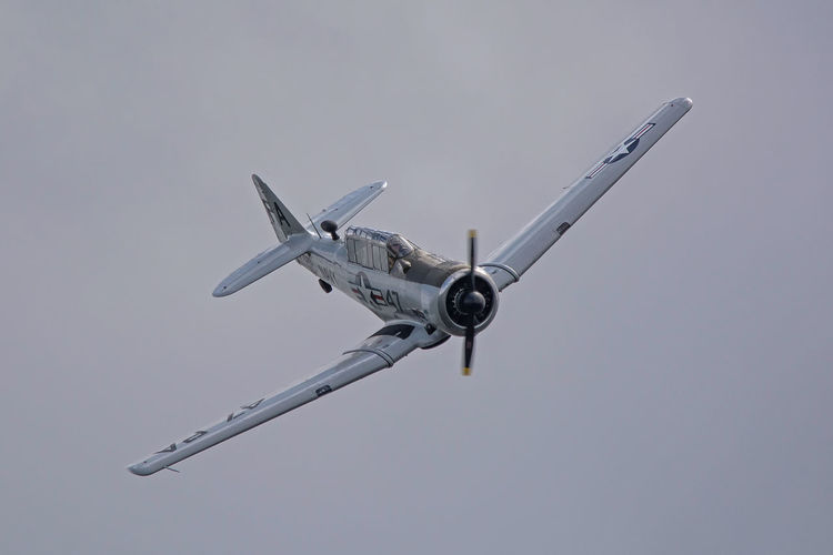 Aircraft Airplane Airshow Avion Biscarrosse Close-up Day Flying Spirit à Biscarrosse 2016 Fragility Low Angle View Metting Nature No People North American T6 Outdoors Show Sky Smoke - Physical Structure