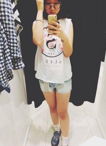 Shopping Relaxing Fitting Room Girl