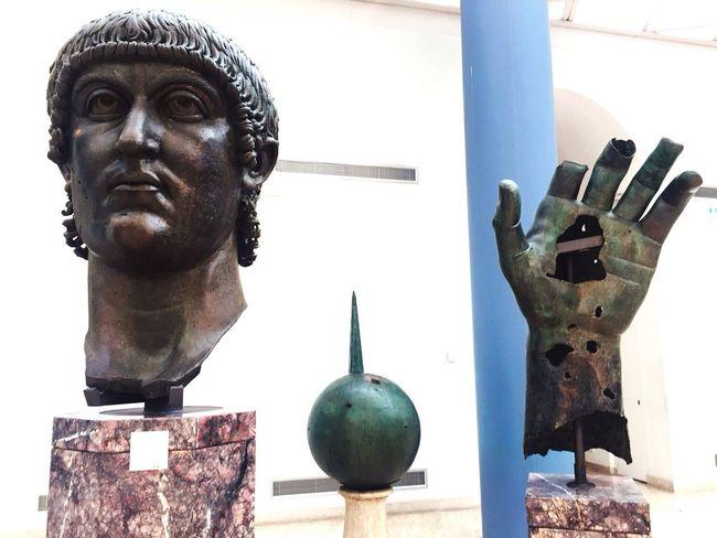 Man in pieces Big Statue Museum Italian Rome Man Human Representation Representation Art And Craft Sculpture Statue Portrait Male Likeness Day Architecture Creativity Arts Culture And Entertainment