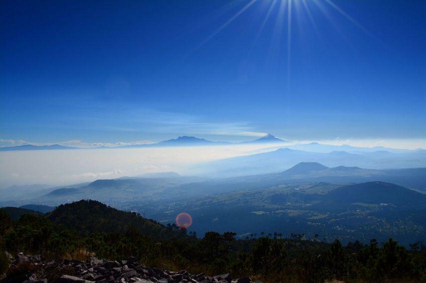 Ajusco CDMX. Landscape Mexico City Montains    Outdoors Popocatepetl E Iztaccihuatl Sky