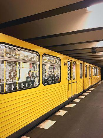 Transportation Mode Of Transport Public Transportation Ubahn Underground Subway Commuting Commuter Commute Berlin City Life Public Transport Yellow Yellow Train Subway Train Subwayphotography