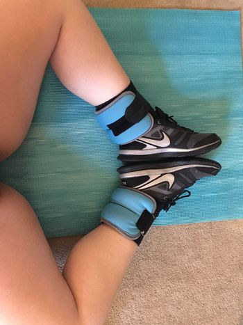 Love my new ankle weights 😍 Workout Fitness Fitness Training Fitnessmotivation Motivation Ankles Ankle Weights Legs Legsselfie Legday Legdaybestday Check This Out That's Me Happy Relaxing Tired Nike Yogamat Today's Hot Look
