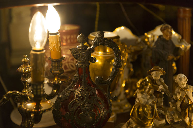 Candle Close-up Day Flame Focus On Foreground Gold Colored Illuminated Indoors  Lighting Equipment No People Statue