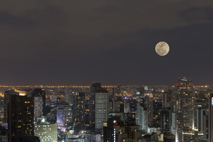 Bangkok Super Moon Bangkok City Cityscape Landscape Landmark Photo Photography Moonlight
