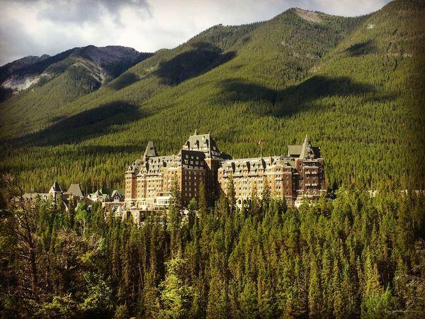 Banff Fairmont Springs hotel. Banff National Park  Banff Springs Hotel Banff  Nature Photography Travel Photography