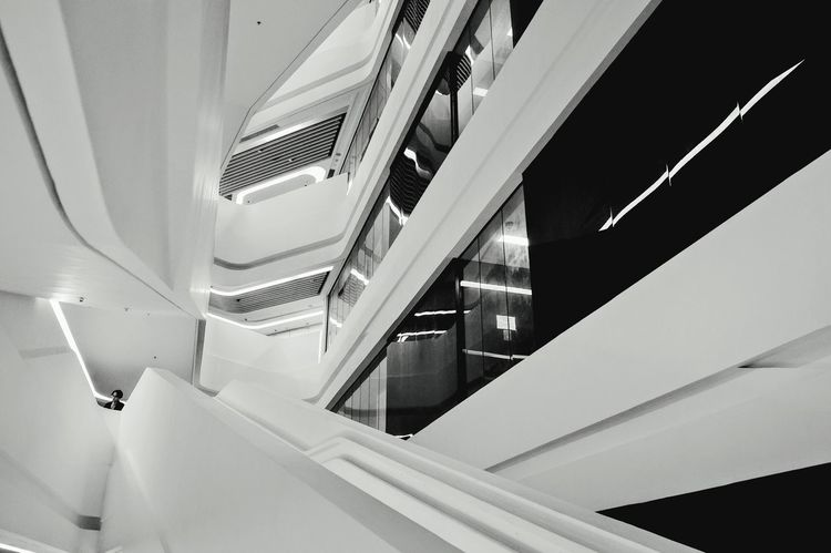 Zaha Hadid, Innovation Tower, stairs VOID B&w Photography Deconstruction Deconstructivism Hong Kong EyeEm Best Shots Architecture Black & White B&w X100t Fujifilm X100T EyeEm Best Edits EyeEm Gallery B+W Stairs