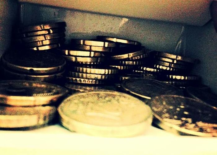 Monnaie Centimes Jaune Pieces Argent