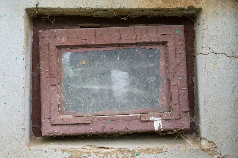 Architecture Built Structure Window No People Wall - Building Feature Old Building Exterior Day Weathered Building Abandoned House Outdoors Close-up Glass - Material Shape Damaged Security Metal Safety Deterioration Window Frame Concrete