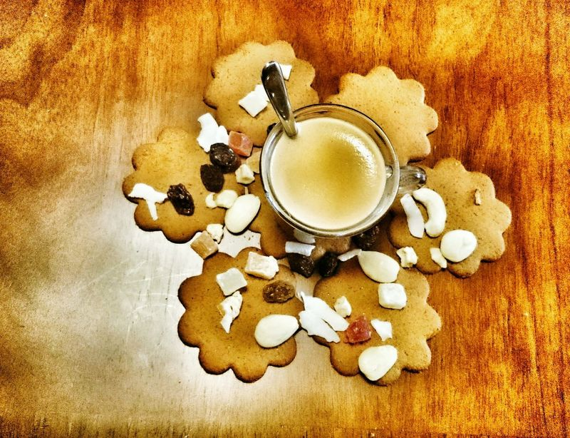 coffee..... cookies and crystallized fruits Coffee Time Crystallized Cookies