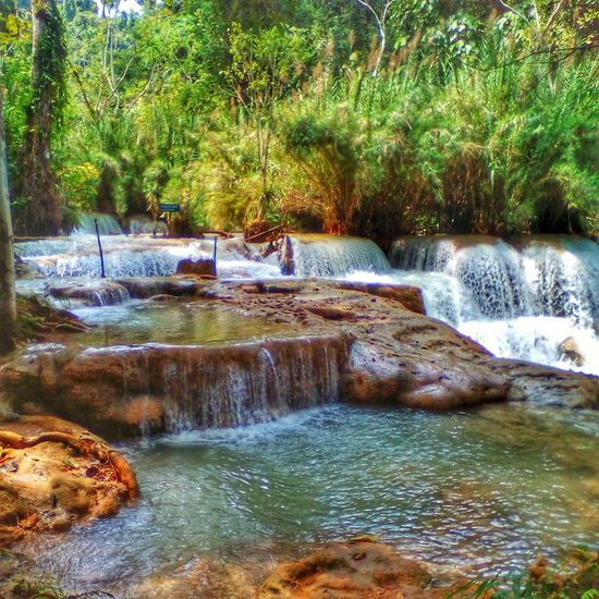 Nature Water Beauty In Nature Scenics Tranquility Tree No People Day Outdoors Motion Waterfall View ASIA Naturelover Landscape Landscape_Collection Naturephotography Nature_collection Landscape_collection EyeEmNatureLover Waterfall Water_collection Waterfallsfordays Laos 2016 Laosbeauty Traveling Traveling Photography Traveller