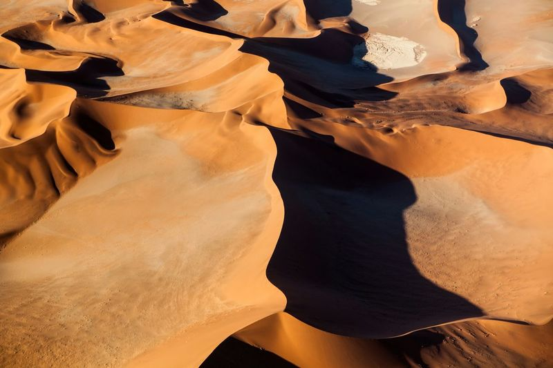 High Angle View Of Sandy Namib Desert