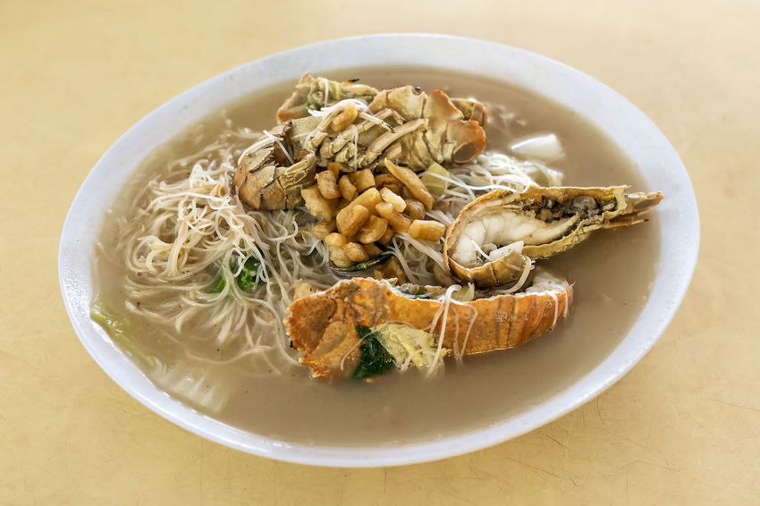 Crayfish White Bee Hoon Close-up Crayfish Food Food And Drink Hawker Food Indoors  Lard No People Noodles Pork Ready-to-eat Singapore