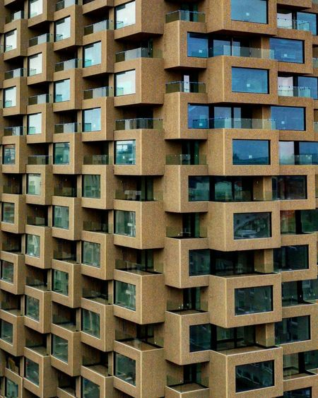 Abundance Apartment Architecture Backgrounds Building Exterior Built Structure Close-up Day Full Frame In A Row Large Group Of Objects Low Angle View No People Outdoors Pattern Repetition Side By Side Textured  Window Wood - Material