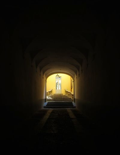 Italy Yellow Black City Tunnel Light At The End Of The Tunnel Arch Architecture Built Structure Historic History Symmetry