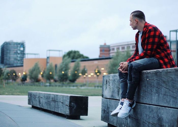 One Person Outdoors Young Adult Architecture Men Day City Sky Adult Portrait Urban Fashion