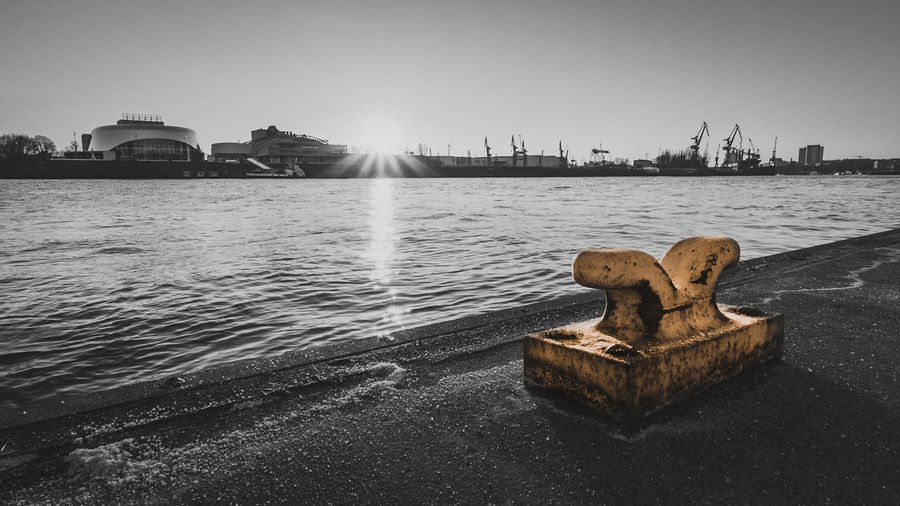 Black and White Emotions Hamburg Blackandwhite Schwarzweißfotografie Blackandwhite Photography Sunset Photography Betterlandscapes Hafencity Hamburg Hamburg Harbour Landschaftsbilder Landungsbrücken  Anker Architecture Building Exterior Built Structure City Day Elbe Kräne Landscape_photography Nature Nautical Vessel No People Outdoors Sea Sky Water EyeEmNewHere
