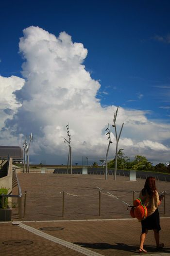 Thunderstorm cloud/入道雲 Thunderstorm Cloud Clouds And Sky Blue Sky Sunny Enjoying Life Hanging Out Relaxing Canon EOS 7D