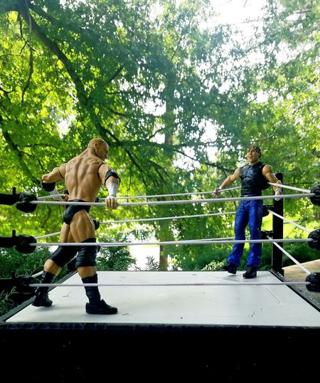 outside wrestling matches Kids Toys Up Close Side View Wrestlemania Wrestling Wrestling Match Wrestlingfigurephotography Wrestlingfigures Wrestling Entertainment Playing Field Play Figirines Tree Full Length Standing EyeEmNewHere #urbanana: The Urban Playground Summer In The City My Best Travel Photo