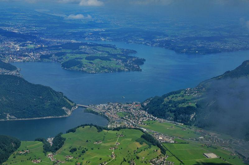 Vierwaldstättersee - Luzern - Schweiz Aerial View Beauty In Nature Blue Idyllic Lake Landscape Luzern Nature Scenics Schweiz Stansstad Switzerland Tourist Destination Tranquil Scene Tranquility Vierwaldstättersee Water