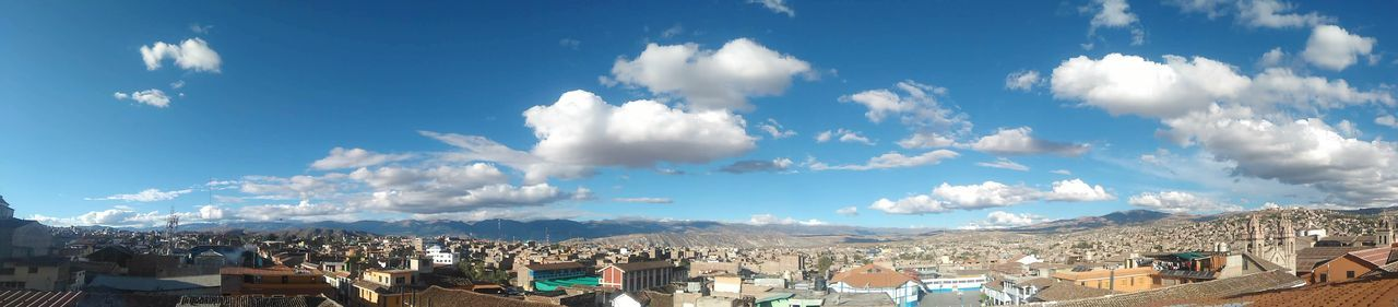 Ayacucho Peru Sky Roof Mountain Outdoors Blue Day City No People Architecture Cloud - Sky Cityscape Ayacucho  Houses Casas Panorama View Panoramashot Panoramic Tree