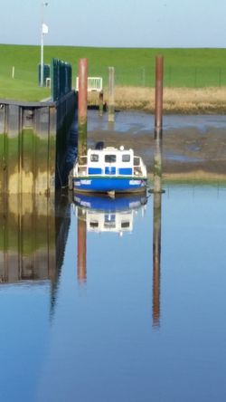Reflection Water No People Outdoors Nautical Vessel Vareler Hafen Reflection Maritime