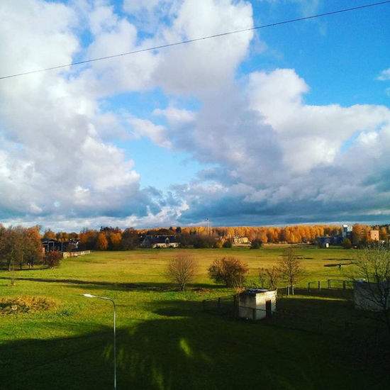 Agriculture Cloud - Sky Nature No People Sky Tranquility Scenics Beauty In Nature Outdoors Day Green Color Urban Skyline Sunlight Skyhunter Sun Nature Dramatic Sky