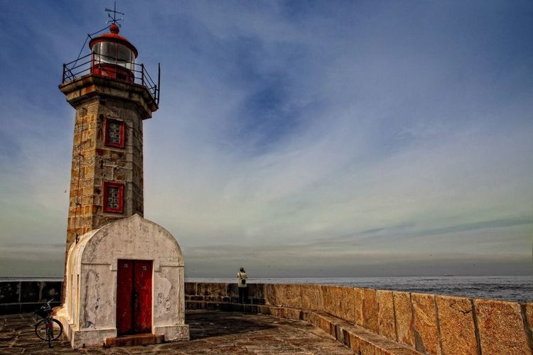 Lighthouse Portugal Porto Guardian Ships Sea Ocean Sentinel Romantic View Oporto Atlantic Waves Panorama Iseeyou Waiting Lonely Standing