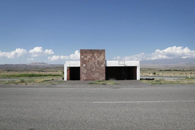 Armenia Caucasus Soviet Union Architecture Bus Stop No People Road Sky Soviet Soviet Bus Stop