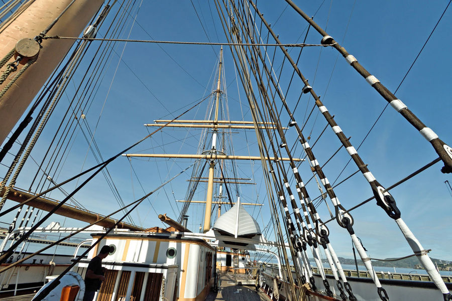 The Balclutha @ Hyde St. Pier 3 San Francisco, Ca. San Francisco Maritime Historic Ship Square-rigged Sailing Ship Cargo Is King 1st Career 1886-99 Grain 2nd Career 1899-1902 Lumber 3rd Career 1902-30 Salmon Onboard Cannery