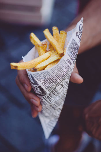 fresh french fries Close-up Day Fast Food Food Food And Drink French Fries Fresh Holding Hot Human Body Part Human Hand Outdoor Potato Prepared Potato Ready-to-eat Streetfood Unhealthy Eating