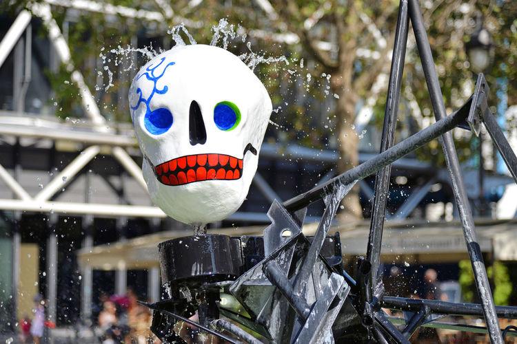 Skull @ Fontaine Stravinsky Paris City Urban France Travel Fountain Day Outdoors Skull Europe Installation Splashing No People Paris, France  FR250_PARIS_AK FR250_FRANCE_AK