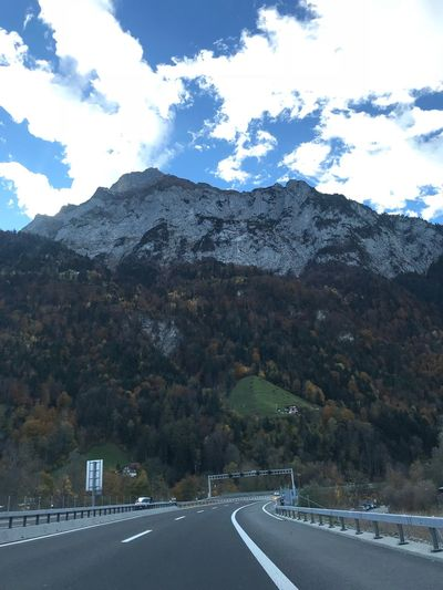 Road Mountain Cloud - Sky Sky Symbol Transportation Road Marking Mountain Range Scenics - Nature The Way Forward