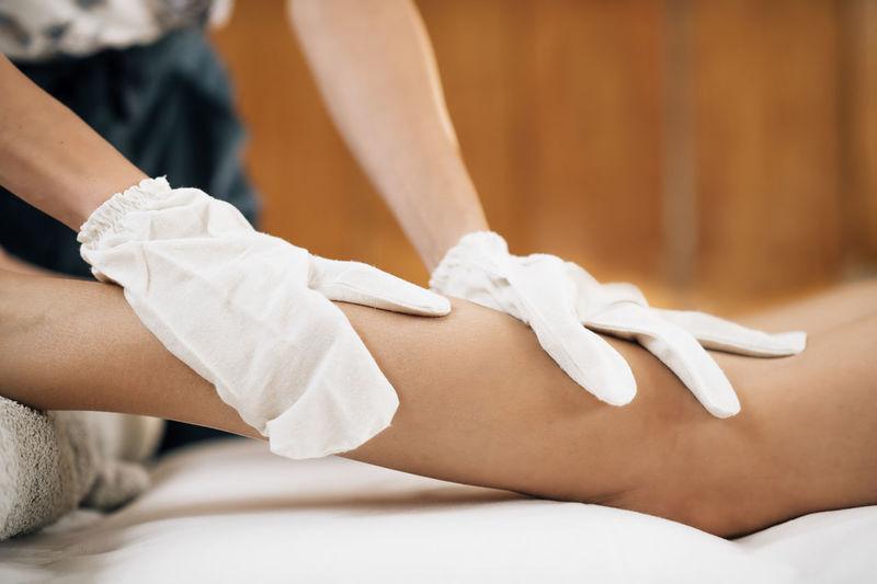 Ayurveda garshana dry body massage with silk gloves