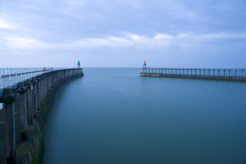 SCENIC VIEW OF Pier In  SEA AGAINST CLOUDY SKY