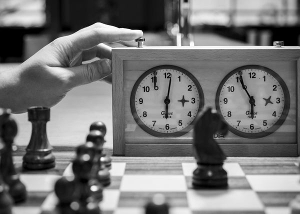 Archival Black & White Black And White Blackandwhite Blackandwhite Photography Chess Chess Board Clock Clock Face Close-up Countdown Day Human Hand Outdoors Strategy Time Timer