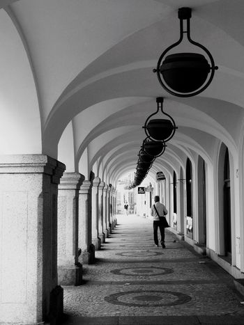 Architecture Walking Day One Person People Czech Republic Liberec City Olympus OlympusPEN Blackandwhite Streetphotography