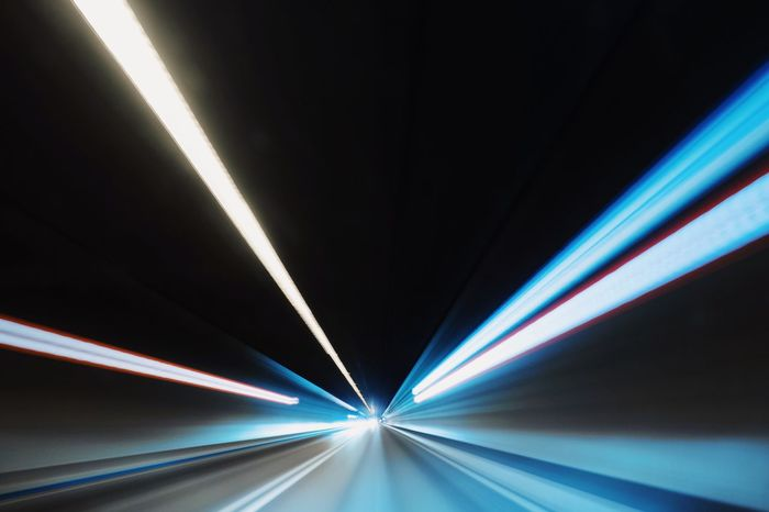 Tunnel Vision Car Traffic Tunnelvision Tunnel Lights Long Exposure Movement Move Speed Lighting Equipment Transportation Indoors  Abstract Motion No People Illuminated Arts Culture And Entertainment The Creative - 2018 EyeEm Awards