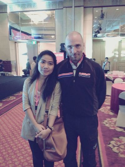 With Livio Suppo, Honda Racing Team :)