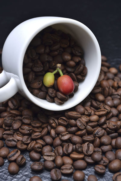 Fragrant pure delicious coffee beans Advanced Coffee Coffee Fruit Pure Bake Bowl Close-up Coffee Bean Coffee Beans Coffee Cup Day Delicious Featured Food Food And Drink Fragrant Freshness Healthy Eating High Angle View Indoors  Need No People Table