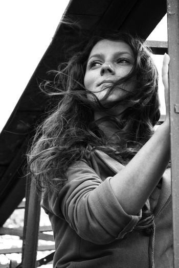Hair Windy Hair Woman Beautiful Woman Blackandwhite Dramatic One Person Outdoors People Portrait Real People Wind Young Women EyeEmNewHere